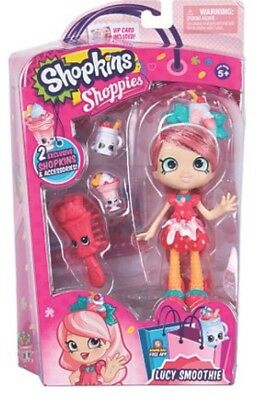 Shopkins Shoppies Doll Lucy Smoothie 2017 with 2 exclusive Shopkins BNIB