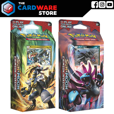 Pokemon TCG - Crimson Invasion Theme Deck Set of 2 | Clanging Thunder & Destruct