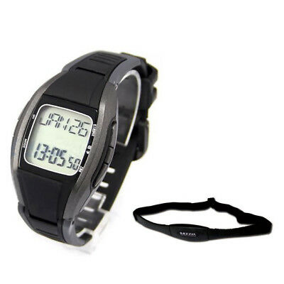 KYTO Pulse Heart Rate Monitor Calorie Counter Watch+Chest Strip Belt Fitnes G1Y5