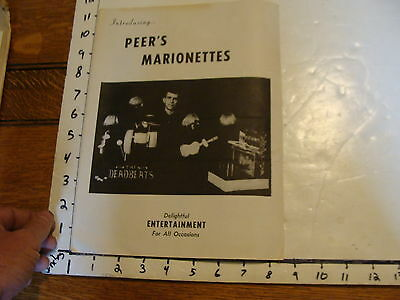 Vintage MARIONETTE Paper: PEER'S MARIONETTES the deadbeats SIGNED