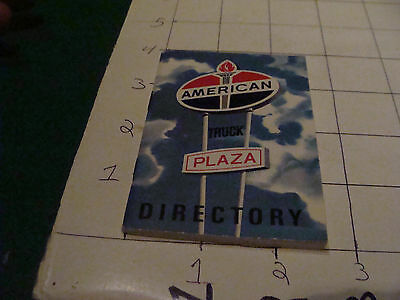 vintage paper; 1970 AMERICAN TRUCK PLAZA directory, 64 pages clean