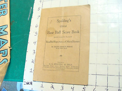 Spalding's Official Base Ball Score Book, jacob charles morse, 1907