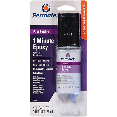 Permatex 84160 PermaPoxy 1 Minute General Purpose Epoxy Fast Setting 25ml