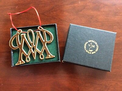 Vintage VIRGINIA METALCRAFTERS William and Mary CYPHER CHRISTMAS ORNAMENT