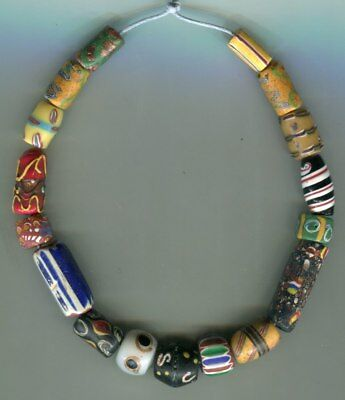 African Trade beads Vintage Venetian glass beads nice mixed old beads some rare