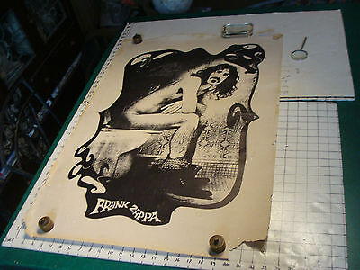 vintage org. Poster: FRANK ZAPPA on TOILET not marked aprox 23 x 34
