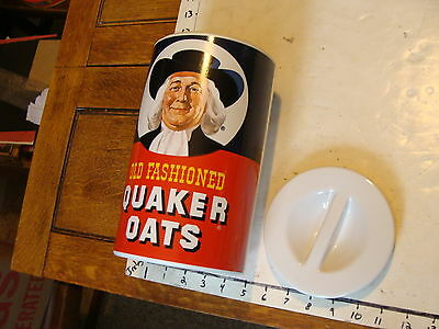 QUAKER OATS pottery canister with lid, CLEAN AND NICE