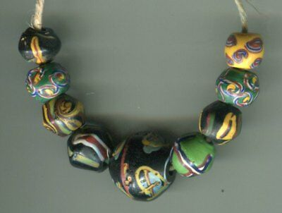 African Trade beads Vintage Venetian glass beads mixed rare King beads fancy