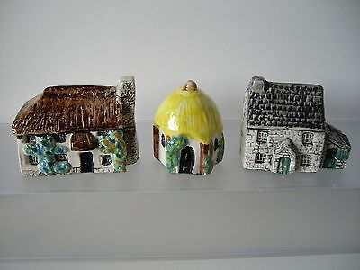 Three Collectable Tey Miniature in Britain Cottages