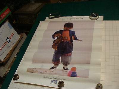"""original 1990 LEE Brand aprox 20 x 27"""" POSTER: How to Spot a Real Kid-spotted"""