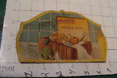 vintage  sewing: HOME COMPANION Needle book, used, made in Japan