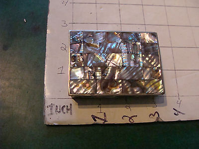 "vintage MOTHER OF PEARL mexico Alpaca ""silver"" smal box, looks nice"