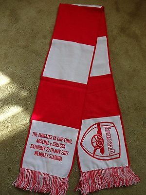 Official Arsenal Scarf FA Cup Final 2017 Brand New Free P&P  AFC