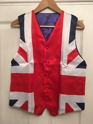 Union Flag Union Jack Waistcoat medium new unworn