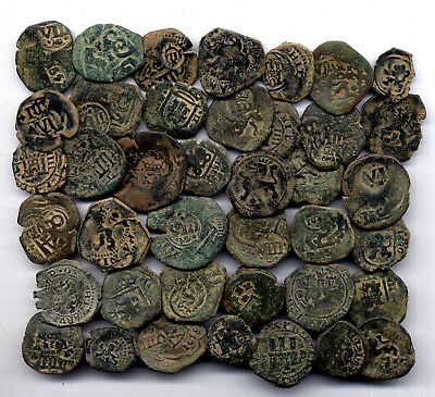 *loracwin* Awesome Lot Of 30 Pirate Cobs Spanish Colonial Coins