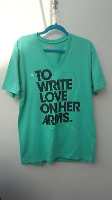 To Write Love On Her Arms T-Shirt - Large - Green