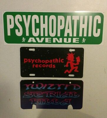 Psychopathic Records Street Sign Lincense plates Twiztid ICP Insane Clown Posse