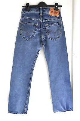 Levi's Jeans 901 Vintage Washed Blue W27 L30 Retro 80s High Waist Button Fly