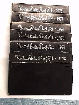 Complete Run IKE Eisenhower Proof Set Collection 1973-1978 36 GEM Coins