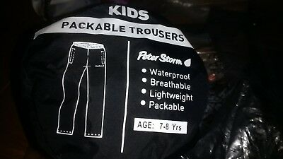 Peter Storm Kids Waterproof Trousers (Age 7-8 years)