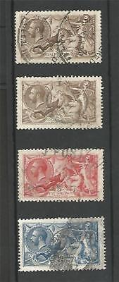 GB 1918 SEA HORSES SET KING GEORGE v HI- VALUES 2/6 5/- 10/-
