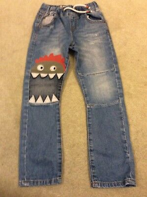 Boys Blue Monster Jeans From Next Age 4-5 Years
