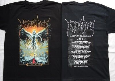 IMMOLATION - Atonement - EUROPEAN TOUR 2017 OFFICIAL T-SHIRT Größe Limited Ltd