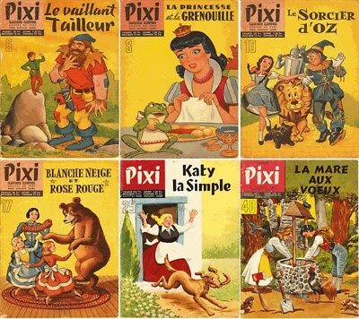 6 Pixi Comics (Pixi Tales in French) in Good Condition