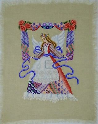 Angel Of The Needle Finished Completed Cross Stitch