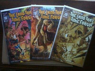 Land That Time Forgot #2 Set Of 3 Covers Incentive Nm 1St American Mythology