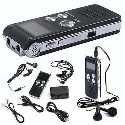 8GB Digital Audio Voice Recorder Rechargeable Dictaphone USB Drive MP3 Player UK