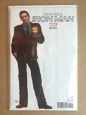 """Infamous Iron Man #1 Mike Deodato 1:10 """"teaser"""" Variant Cover Nm 1St Printing"""