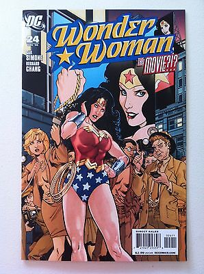 Wonder Woman (2006) #24 The Movie? Gail Simone Bernard Chang 1St Printing Vf/nm