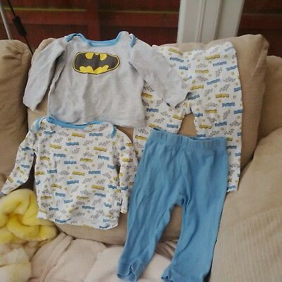 Two Pairs Boys Pyjamas, Aged 9-12 Months, Batman - Long Sleeved, Must See