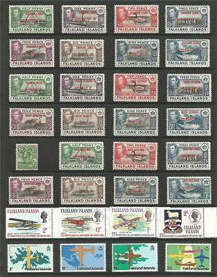 BIG EARLY FALKLANDS COMMONWEALTH COLLECTION G6th & COMPLETE QE2 SETS SEE SCANS