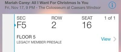 Mariah Carey All I Want For Christmas at The Colosseum at Ceasars Windsor