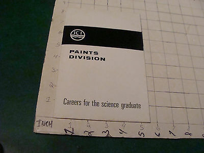 HIGH GRADE Vintage paper: ICI PAINTS DIVISION 1966 careers for science grad 16pg