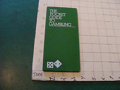 HIGH GRADE Vintage book: THE POCKET GUIDE TO GAMBLING 1980, 144pgs