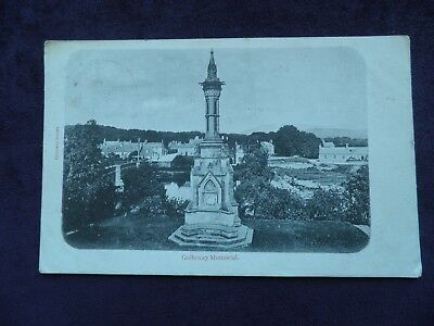 Old Scottish Postcard of Galloway Memorial, Newton Stewart, Dumfries & Galloway
