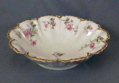 Haviland Round Fluted Salad Bowl -Pretty Pink Roses - S1145-4