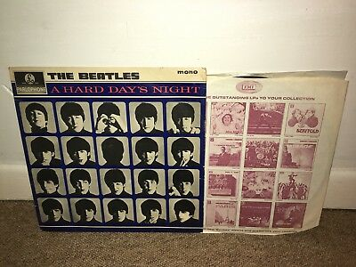 THE BEATLES A Hard Day's Night LP Parlophone 1969 UK Press!
