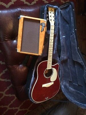 esteban acoustic electric guitar vintage edition 2009 With Case And Amp