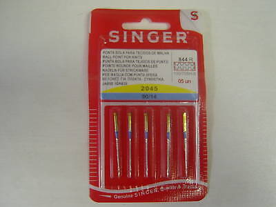 Singer Sewing Machine Needles 90/14 Ball Point ForKnits