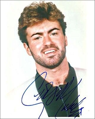 8 x 10 Autographed Photo of George Michael  (REPRINT)