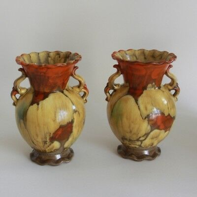 GERMANY | Two matching Art Nouveau vases  (ca. 1915)