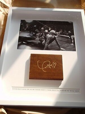 "Taylor Swift Autographed Floor Piece ""Look What You Made Me Do"" Shadow Box *NEW*"