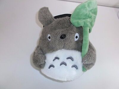 Totoro with Lotus Leaf Rock Climbing Chalk Bag made from a child's plush toy