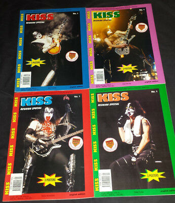 Kiss: 4 magazines (kiss army International strike reunion special) complete 1996