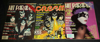 Kiss: 2 hit parader 77/82 & cream 77 magazines
