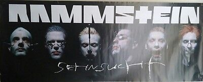 Rammstein Sehnsucht Poster 1998 Pin-Up Rock & Roll Heavy Metal Germany